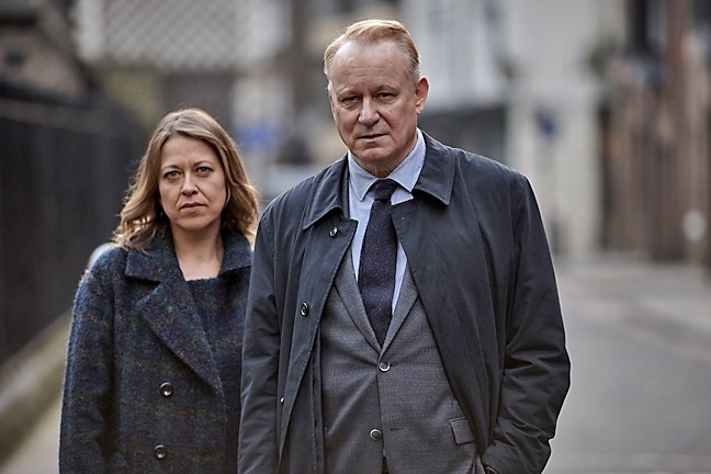 "HAUNTED :  Jackie ""Stevie"" Stevenson (Nicola Walker) and John River (Stellan Skarsgård) star in River, a police drama with a psychological twist. - PHOTO COURTESY OF BBC ONE"