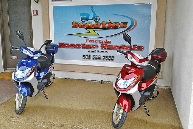 SCOOT ON OVER:  Scooties Inc., a new electric scooter rental company, is owned and operated by Grover Beach father-and-son duo Bill and Kevin Majors. - PHOTO COURTESY OF SCOOTIES INC.