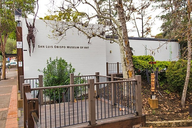 DOWNTOWN SCENE :  The Broad Street entrance to the San Luis Obispo Museum of Art sits just above the creek. Museum officials hope to break ground on a new building in 2019. - PHOTO BY JAYSON MELLOM