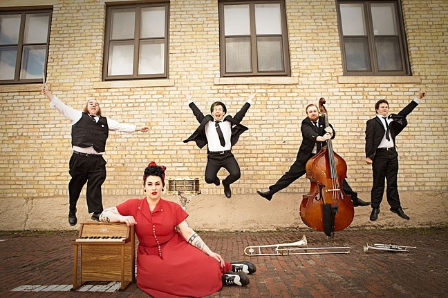 THAT VOICE :  Davina & The Vagabonds will swing by SLO Brew Sept. 14, on their way to the Monterey Jazz Festival. - PHOTO COURTESY OF DAVINA & THE VAGABONDS