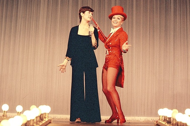 SHOW TIME:  Carrie Fisher performs with mom Debbie Reynolds, who always wished her daughter had pursued a singing career. - PHOTO COURTESY OF TODD FISHER