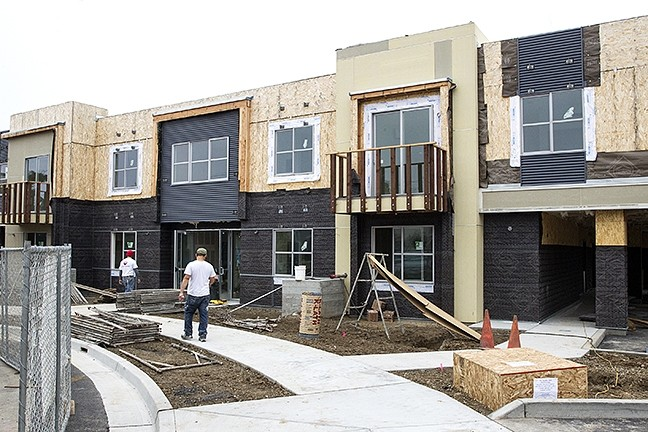 "VET HOUSING:  The ""360 on the Wye"" housing project, spearheaded by the Housing Authority of SLO, will provide 10 units for homeless veterans and 10 affordable units on Humbert Ave. in SLO. SLO County's Inclusionary Housing Program contributed about $20,000 to the project. - PHOTO BY JAYSON MELLOM"