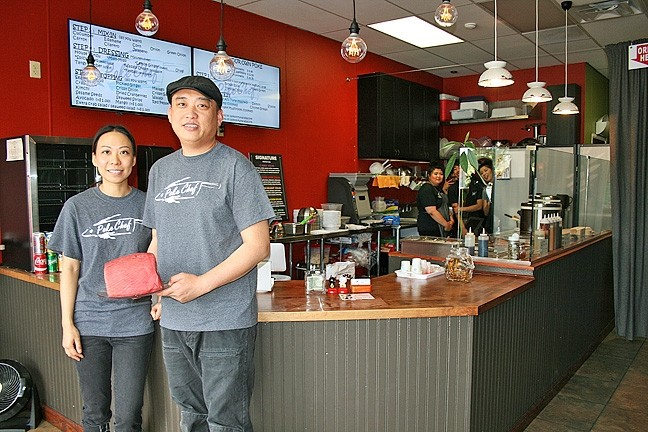 POKE PAIR:  Pinky and Will Yan opened Poke Chef back in July and have already experienced a wave of popularity with college kids, foodies, and fish fiends alike. - PHOTO BY HAYLEY THOMAS
