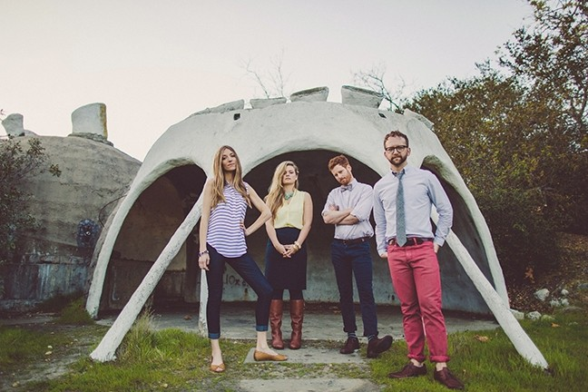 POP WÜNDERKINDS!:  Fialta, photographed at Cal Poly's architecture graveyard in Poly Canyon, releases their excellent new EP 'Hell Niño' with a show at SLO Brew on April 14. - PHOTO COURTESY OF FIALTA