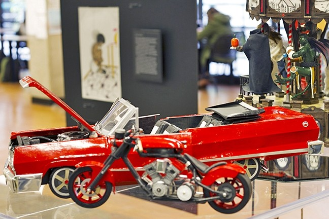 LIFELIKE:  This model of a convertible car, Cruisin', by incarcerated artist Cuong Tran is functional with doors and a hood that open. - IMAGE COURTESY OF ROBERT E. KENNEDY LIBRARY