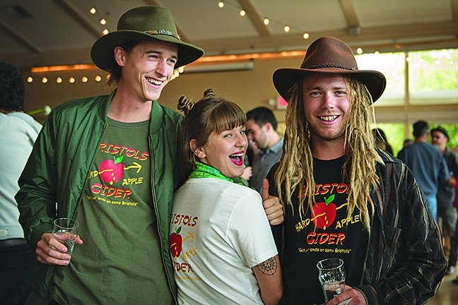 THE APPLE BUZZ:  Now in its second year, the Central Coast CiderFest promises to offer up classic, creative, and wildly imaginative hard ciders. Discover a new favorite brew this Saturday, May 13, at the Atascadero Lake Park Pavilion. - PHOTO COURTESY OF CENTRAL COAST CIDERFEST