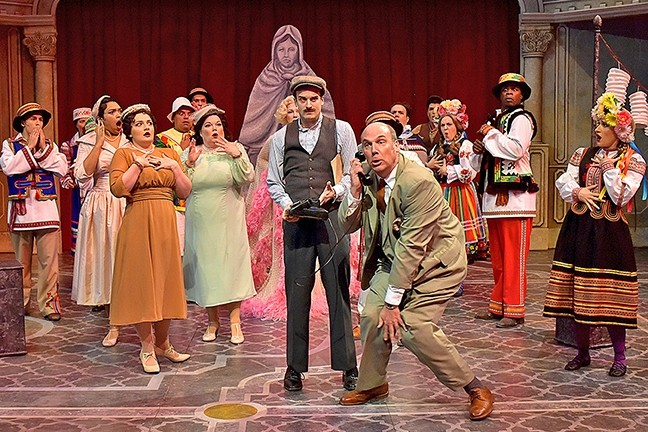THE SHOW MUST GO ON:  The supposed death of an actor creates mayhem for an opera house in PCPA's rendition of 'Lend me a Tenor the Musical.' - PHOTO COURTESY OF LUIS ESCOBAR/REFLECTIONS PHOTOGRAPHY STUDIO