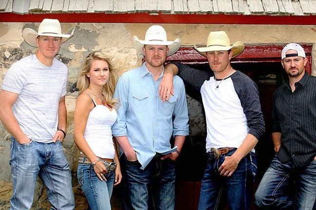 COWBOY UP!:  The Chancey Williams Band with Callie Twisselman plays SLO Brew on April 6 for a Cal Poly Rodeo kickoff party. - PHOTO COURTESY OF THE CHANCEY WILLIAMS BAND