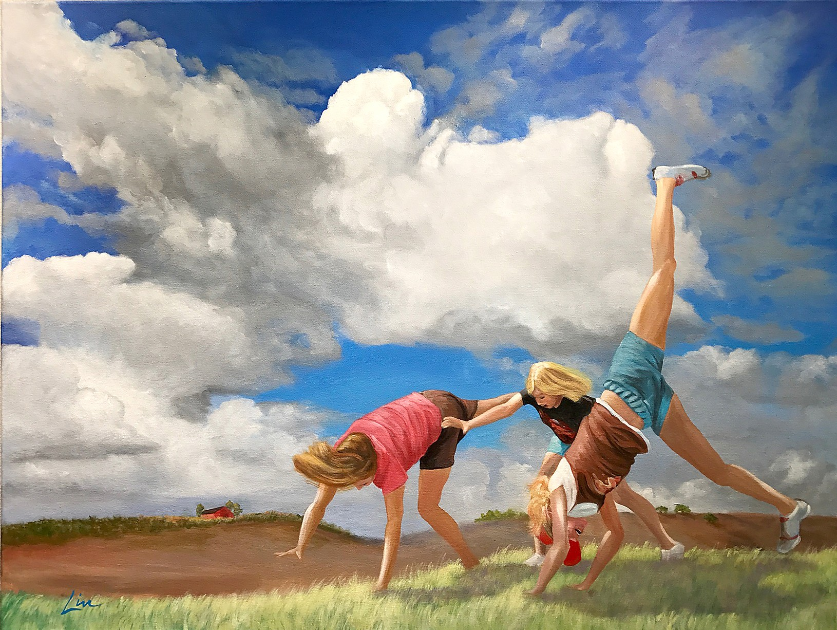 INNOCENCE Free, No Fears is artist Lin Mercer's aspirational take on how everyone should feel that carefree feeling of being a child in America. - IMAGE COURTESY OF THE PASO ROBLES ART ASSOCIATION