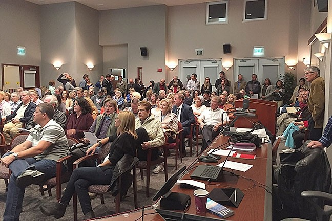 REELING IN RENTALS Community members packed Paso Robles City Hall for a workshop in 2015 discussing new regulations for the vacation rental industry. The city is poised to finally adopt an ordinance in the coming weeks. - PHOTO COURTESY OF THE CITY OF PASO ROBLES