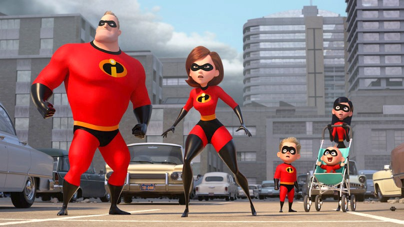 SUPER DUPER In Incredibles 2, everyone's favorite family of superheroes must work together with Frozone to defeat a new villain. - PHOTO COURTESY OF DISNEY/PIXAR