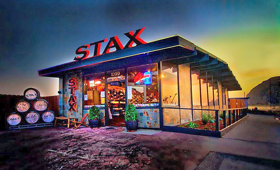 WINE BAR BUSTS OUT Stax Wine Bar and Bistro, located at 1099 Embarcadero in Morro Bay, has grown from a wine shop to a lounge to now a bustling bistro serving up meaty morsels, fresh seafood, and more. - PHOTO COURTESY OF CAVAN HADLEY