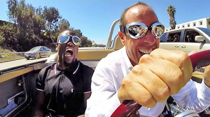 COMEDY TALK Jerry Seinfield is back driving vintage cars, drinking coffee, and chatting with other comedians in an enjoyable 10th season of Comedians in Cars Getting Coffee. - PHOTO COURTESY OF NETFLIX