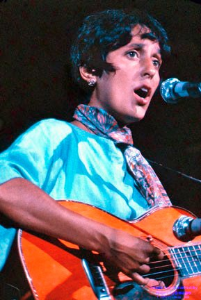 STARSTRUCK Among William Seavey's Woodstock photos are strikingly focused images of the concert's biggest stars. Pictured here is American folk singer Joan Baez. - PHOTOS COURTESY OF WILLIAM SEAVEY