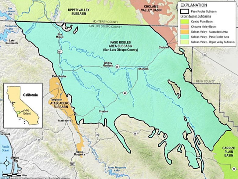 COMPLETE A sustainability plan for the Paso Robles Groundwater Basin (pictured) is nearing the finish line. - IMAGE COURTESY OF THE PASO BASIN COOPERATIVE COMMITTEE