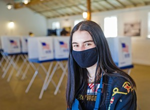 Local high school students volunteer in record numbers at Vote Service Centers