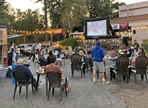 Central Coast Brewing transforms its parking lot into an outdoor movie theater—with dinner and a show—every Tuesday