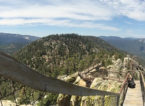 Walk the plank to the Needles Lookout in Giant Sequoia National Monument