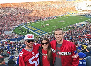 Spending New Year's Eve at the LA Coliseum for the 49ers vs. Rams game