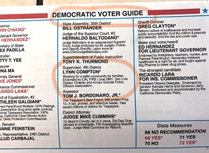 Democratic 'voter guide' tells Nipomo Dems to vote for Compton