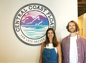 Two siblings bring a floatation spa to the Central Coast