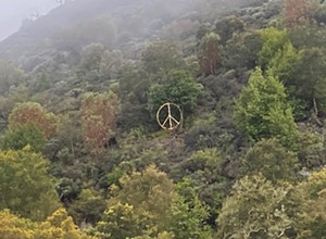 Cuesta Grade peace sign promotes unity during tumultuous time
