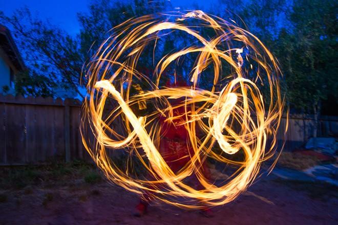 Engulfed in flames: Ignite Fire Dance of Santa Maria