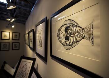 Local printmaker Joseph Kalionzes debuts Dia de Los Muertos-themed prints at Studios on the Park