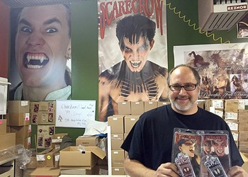 Fang thang: Scarecrow Vampire Fangs provides treat for Halloween blood drive