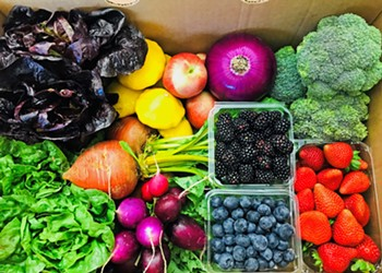 Find a whole rainbow of foods in one place at Talley Farms' winery, farm stand, and berry patch u-pick