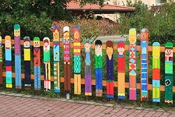 Help create a colorful new fence for the SLO Botancial Children's Garden! - Uploaded by SLO Botanical Garden