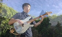 Yale Yune, bassist for the Cal Poly Vocal Jazz Ensemble - Uploaded by music 1