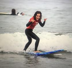 Zoe showing us how its done - Uploaded by Sandbar Surf School