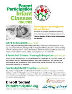 Weekly Online Parent Participation Classes for parents of infants or soon to be parents- enroll at parentparticipation.org - Uploaded by Denise Jenkins
