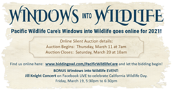 Pacific Wildlife Care Spring Fundraiser (on-line) + Jill Knight concert - Uploaded by Marcelle Bakula