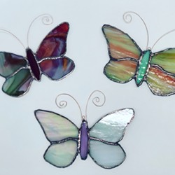 stained glass suncatchers; first time student work. - Uploaded by Lisa R Falk