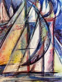 """""""311 Regatta"""" by Ardella Swanberg - Uploaded by Sue Allemand"""