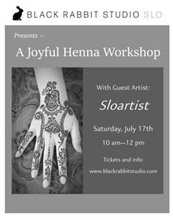 A Joyful Henna Workshop Saturday July 17th 10am-12pm - Uploaded by Black Rabbit Studio SLO