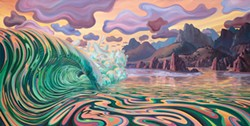 """""""Moment of Magic"""" Acrylic on Canvas  60x120 inches by Charlie Clingman - Uploaded by Chris Pedersen"""
