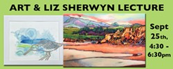 The Cambria Center for the Arts is pleased to announce a lecture by Art and Liz Sherwyn, as part of their current exhibit located in the CCA Gallery. - Uploaded by Wendy Wright