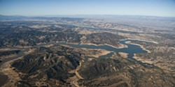 FILE PHOTO BY STEVE E. MILLER - DRIED UP? :  Facing dwindling groundwater supplies and a $13 million-per-year share of the Nacimiento Water Project (that's Lake Nacimiento pictured), Paso Robles officials are praying to soon implement increased water rates on residents—but have so far consistently failed.