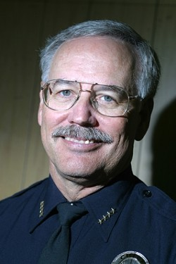 FORMER CHIEF :  Jim Gardiner is running against Pat Hedges for sheriff.