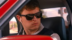 PHOTO COURTESY OF SONY PICTURES - SPEEDY In Baby Driver, a young get-away driver (Ansel Elgort) is forced to work for a crime boss (Kevin Spacey).