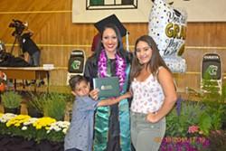 PHOTO COURTESY OF VIANEY ALVARADO - SUCCESSFUL START Three years of determination has pushed Vianey Alvarado (middle) to graduate Cuesta College's Nursing Program and on to becoming a registered nurse.