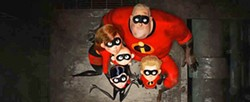 PHOTO COURTESY OF DISNEY/PIXAR - DISGRACED HEROES After damage is done to the city by the Incredibles while fighting crime, the super family is forced to go underground or find a way to make being super legal again.