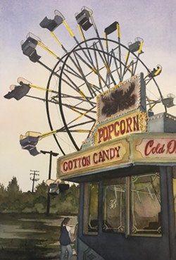 """Small Town Fair in Dusk"" - Uploaded by Art Central 1"