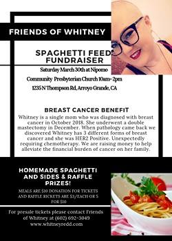 Spaghetti and Raffle Fundraiser - Uploaded by Jeni Blue