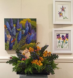 Flowers with matched paintings and  sculptures - Uploaded by Sheri Parisian