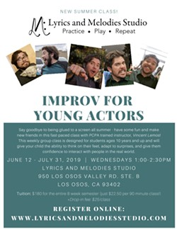 Improv for Young Actors 6/12/19-7/31/19 - Uploaded by Lacey McNamara