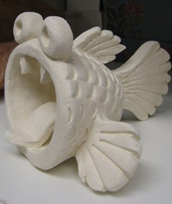 Pinch pot clay creature - Uploaded by Patricia Tipp Newton
